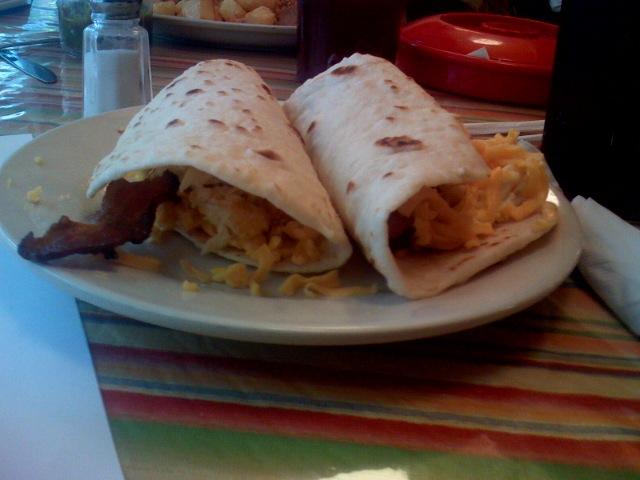 in praise of the Blanco Street Café 24/7 breakfast taco